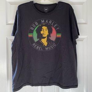 Grey Bob Marley T-Shirt